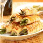 Pasta sfoglia con asparagi