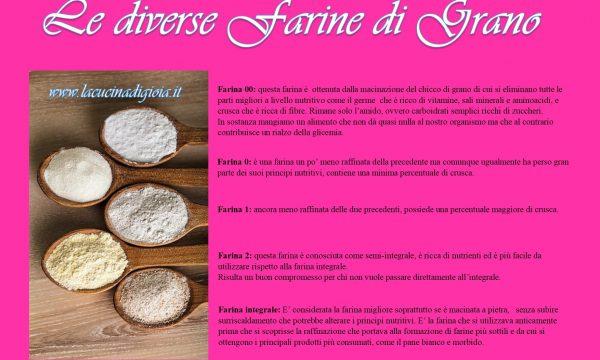Le diverse farine di Grano