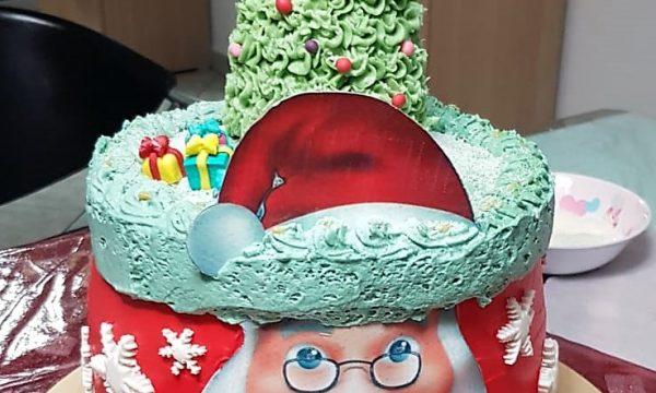 VideoRicetta Torta Babbo Natale con Albero