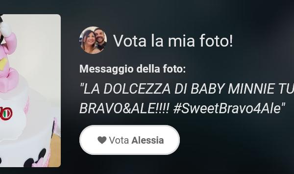 """Votate la Torta di Alessia """"BABY MINNIE"""""""