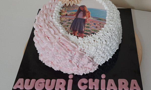 Torta Chiara Nutella e Panna decorata con sac a poche  e fiore in pasta di zucchero