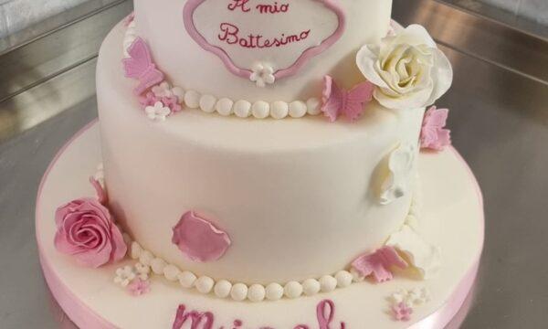 Cake Battesimo Micol💖💖💖💖💖