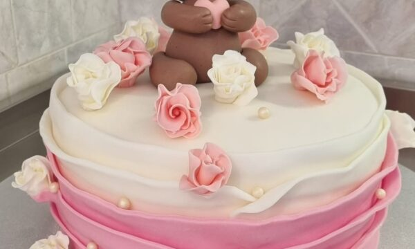 Cake Klaudia Ginevera Battesimo🎀🎀🎀🎀🎀🎀🎀